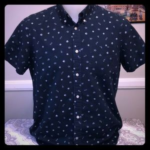 Men's Gap Button up Short Sleeve Shirt
